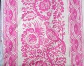Mod Girls Patsy Jennifer Paganelli Pink/White birds stripe Free Spirit fabric BTHY Half Yard