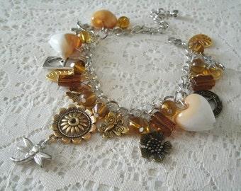 Charm Bracelet, victorian jewelry steampunk jewelry edwardian jewelry art nouveau jewelry art deco gothic renaissance medieval neo victorian