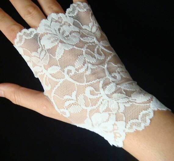 white lace gloves fingerless lace gloves black by