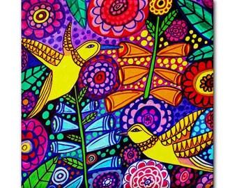 Bird Art Tile Ceramic Coaster Print of Painting by Heather Galler (HG180)