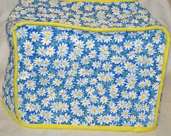 Blue and White Daisy Toaster Cover Cozy Quilted, Embroidered, Personalized With Name, No Shipping Charge, Ready To Ship TODAY AGFT 180