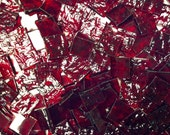 """100 1/2"""" Cherry Red Granite Stained Glass Mosaic Tiles"""