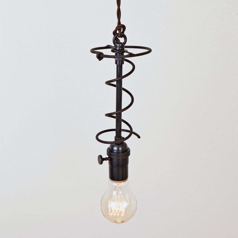 Pendant Light Vintage Bedspring Switch Socket Hanging Light
