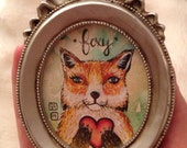Foxy Original mini painting framed