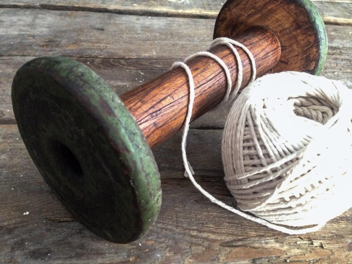 Old basket weaving tools : Antique wooden spool yarn weaving tools textiles