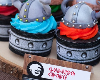 How to Train Your Dragon VIking Printable Cupcake Wrappers - INSTANT DOWNLOAD