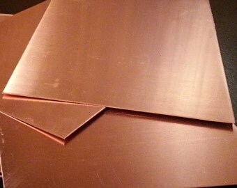 18 gauge Copper Sheet - 4 x 6 inches ready for blanking disc cutting and more