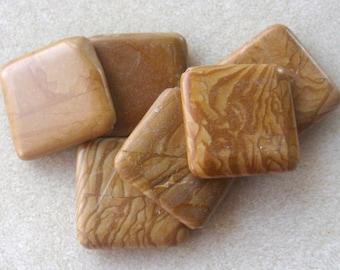 Wood Jasper Diamond Gemstone Pendant Focal Bead Necklace Design Jewelry Supplies Craft Supplies(1)