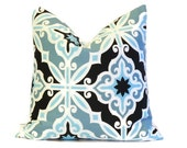 Blue Pillow Cover.Throw Pillows.ONE pillow sham.Cushion Cover.Decorator Pillow.Accent Pillow.18x18 inch.Modern ALL SIZES Pillow Slipcover