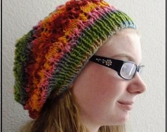 Arrowhead Slouchy Hat Knitting Pattern PDF Digital Download