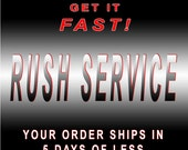 2 ITEMS - Rush Etching Service