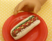 Miniature Hot Dog for American Girls 1:3