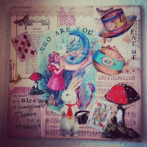 Unavailable listing on etsy Alice and wonderland art projects