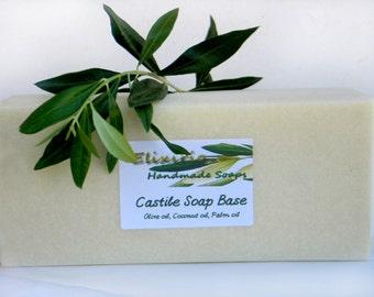 Castile Rebatch Soap Base - BASIC - 80% Olive Oil, Cold Process Soap for hand-milling, rebatching - 900gr