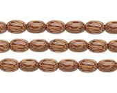 Coconut Wood Oval Beads Natural 9x6mm 16 Inch Strand
