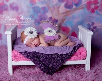 NEWBORN WINGS, wings and headband set, Angel Wings, newborn photography prop, baby wings, fairy wings