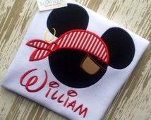Pirate Mickey Shirt,Pirate Mickey Mouse Shirt, Boys Pirate Mickey Shirt, Boys Birthday Shirt