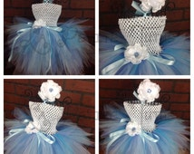 tutu dress, princess tutu dress, elsa inspired, costume, clothing, girls clothing, elsa outfit, elsa costume, tulle dress, flower girl dress
