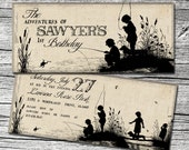 Tom Sawyer Invitations and Thank You Cards (sold separately)-Featured in Mingle Magazine!