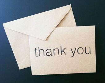 100 Thank You Cards Minimalist