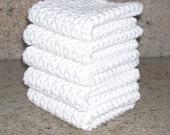 Crochet Wash Cloth, Dish Cloth, Set of 5
