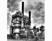 "Gas Works Park, Very Fine Art Black and White Photograph; available in 5x7"", 8x10"", 11x14"", 13x19"" and 5x7 Note Card with envelope!"