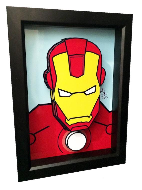 iron man comic art 3d pop art superhero comic book movie. Black Bedroom Furniture Sets. Home Design Ideas