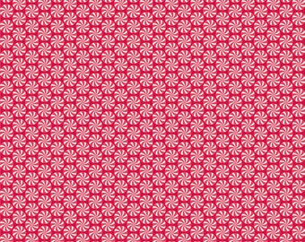 Home For the Holidays Peppermint Red by Doodlebug Designs for Riley Blake, 1/2 yard