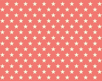 Trendsetter Stars Coral by Fancy Pants Designs for Riley Blake, 1/2 yard