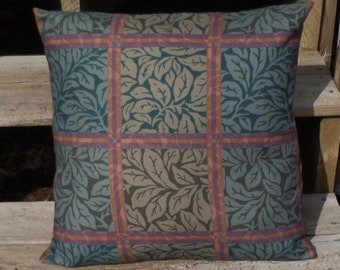 Green Pillow Cover 18x18 Green Leaf Pattern Pillow Throw
