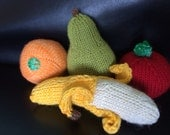 Play Food: Wool, Knit Fruit