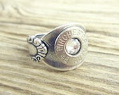 Bullet Ring / Antiqued Silver Plated Spoon Bullet Ring WIN-#-N-SPR / Silver Ring / Silver Bullet Ring / Antique Ring / Winchester® Ring