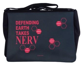 Neon Genesis Evangelion Large Messenger Bag: Defending Earth Takes NERV