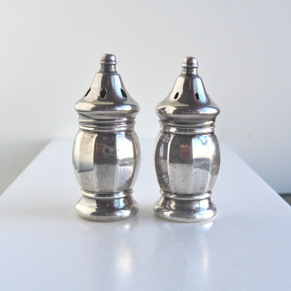 Sterling Silver Salt And Pepper Shakers Beautiful Classic