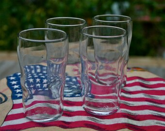 Vintage LIBBY Juice/Wine/Vase GLASSES Classic Tumblers 1970's DINER Set of 6