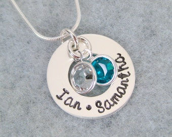 Birthstone Necklace - Personalized Mother's Necklace