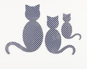 Original Die Cut Cat Trio - 30 percent to animal charity