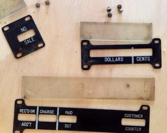 Salvaged pieces from National cash register