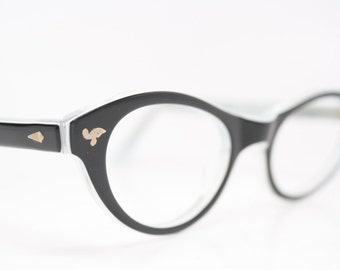 Black Catseye glasses vintage glasses frames cat eye sunglasses