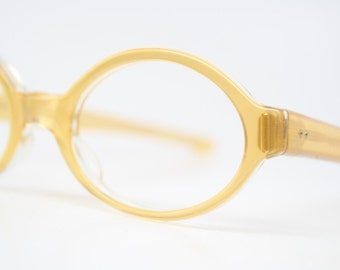 Small Yellow cat eye glasses retro vintage