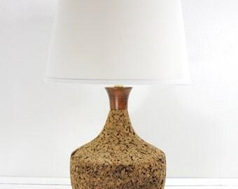 Mid Century Modern Cork Large Lamp-Oversized