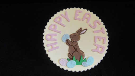 Easter Cake Edible Decorations : Easter Bunny Fondant Icing Cake Decorations Easter Wikii