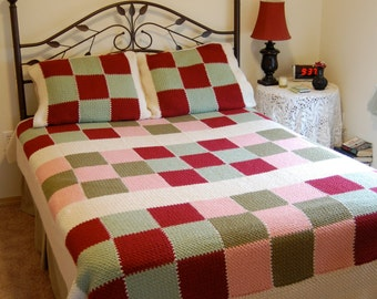 "Patchwork Bedspread (78"" x 86"")"