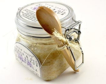 Lavandula Sugar & Oil Skin Treatment - Natural, Vegan, Sugar Scrub, Lavender