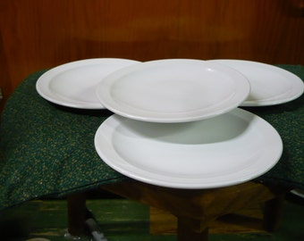 4 - Pyroceram Tableware - White - 6 1/4  - Bread and Butter Plates - Read Below