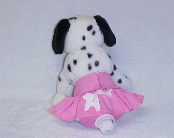 Female Dog Diaper Puppy Pet Wrap Panties Doggie Britches Pants Skirt Size XSmall To 5XLarge Pink Poodle Skirt  Cotton Fabric
