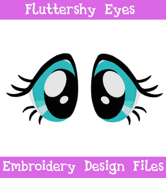PES FILES Fluttershy Eyes Machine Embroidery Design Pattern