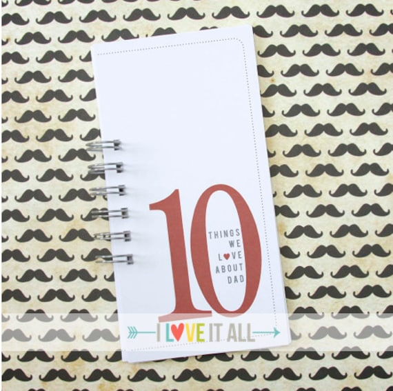 Valentine Day Gift . 10 Things 10 Reasons . Love About DAD MOM YOU . Birthday Coupon Lists Book Card . Deployment Gift for Daddy