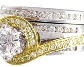 14k white yellow gold round cut diamond engagement ring band 1.75ct h-vs2 egl us