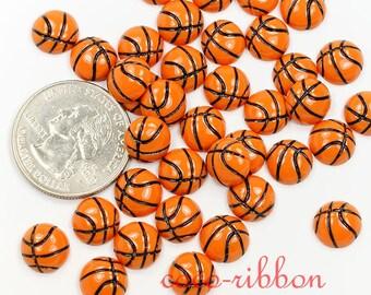 Basketball nail art etsy tiny 10mm 20pcs basketball nail art decoration craft flatback resin cabochons c35 prinsesfo Choice Image